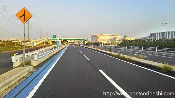 豊砂付近の道路の写真