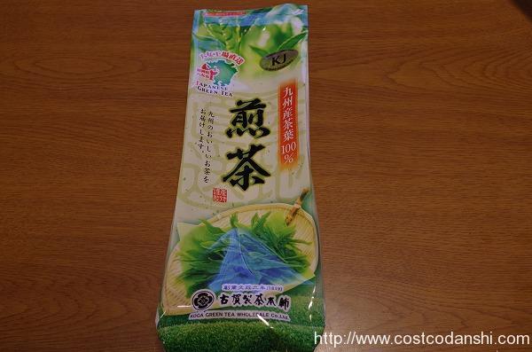 コストコの八女茶煎茶のパッケージ正面